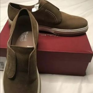Men's Ferragamo Salvatore Brown suede 12M